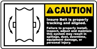 Ensure Belt Is Tracking Label