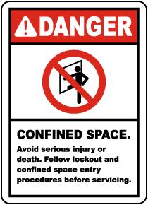 Follow Lockout Entry Procedures Label