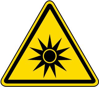 Optical Radiation Warning Label