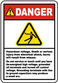Do Not Service Until De-Energized Label