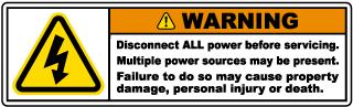 Multiple Power Sources Label