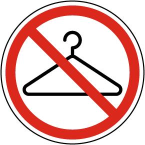 No Hangers Label