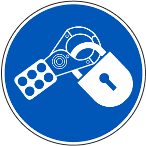 Use Lockout Hasp Label