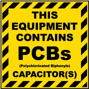 Equipment Contains PCBs Label