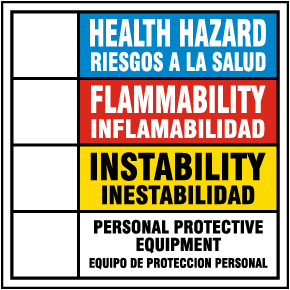 Bilingual Hazardous Material Rating Sign