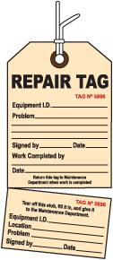 2-Part Perforated Repair Tag