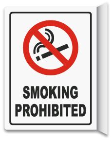 2-Way Smoking Prohibited Sign