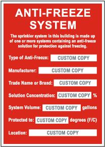Custom Anti-Freeze System Sign
