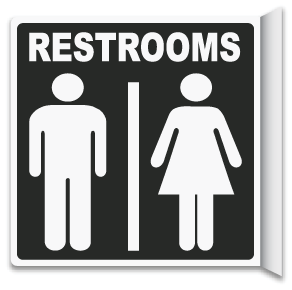 2-Way Restrooms Sign