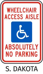 South Dakota Accessible Parking Sign