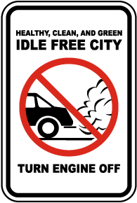 Idle Free City Turn Off Engine Sign