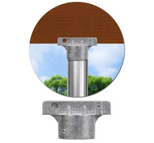 5½″ Street Name Sign Bracket for 2-3/8'' Round Posts