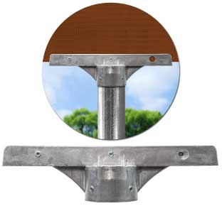 12″ Street Name Sign Bracket for 2-3/8'' Round Posts
