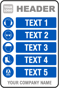 PPE Sign — 5 Images