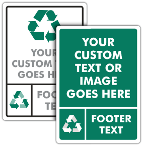 Custom Recycling Signs — 12 Unique Templates