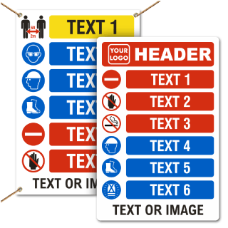 Custom PPE Signs and Banners — 6 Images