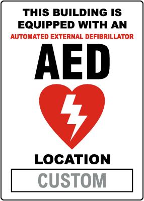 Custom AED Location Sign