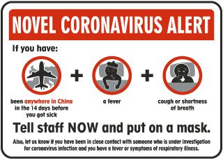 Novel Coronavirus Alert Sign