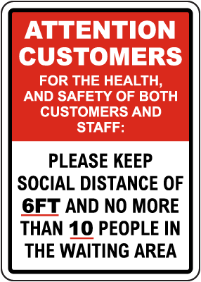 Attention Customers Sign