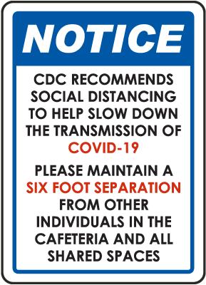 Notice Social Distancing Sign