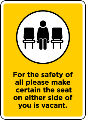 Make Certain to Sit Apart Sign