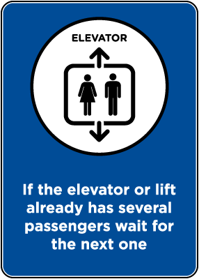 Elevator/Lift Occupancy Sign