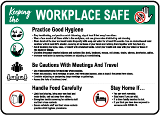 Keeping the Workplace Safe Sign