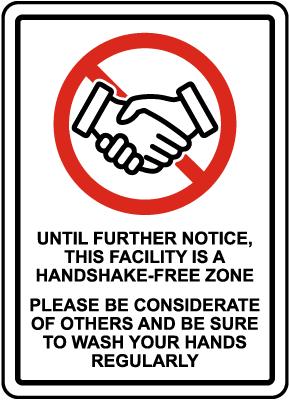 No Handshake Sign