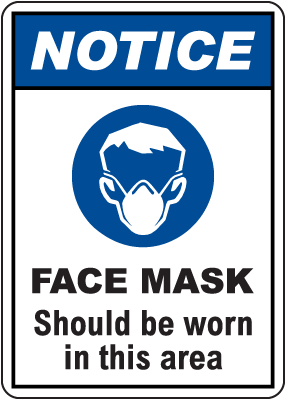 Notice Face Mask Sign