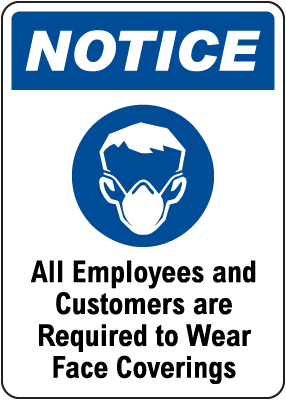 Face Covering Notice Sign