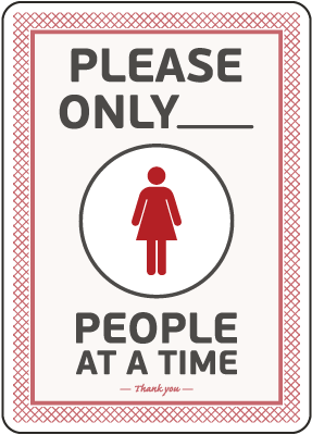 Please Only Number of People Sign