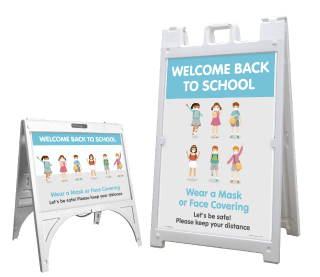 Back to School Wear a Mask Sandwich Board Sign
