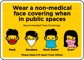 Non-Medical Face Coverings Sign