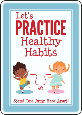 Let'S Practice Healthy Habits Sign