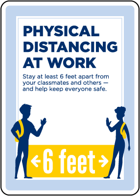 Physical Distancing At Work Sign