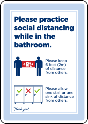 Bathroom Social Distancing Sign