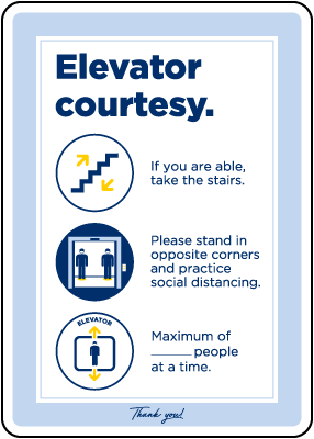 Elevator Courtesy Sign