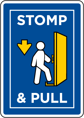 Stop & Pull Sign