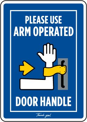 Arm Pull Door Handle Sign