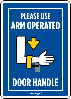 Arm Wing Door Handle Sign
