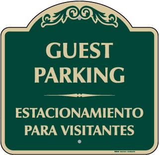 Bilingual Guest Parking Sign