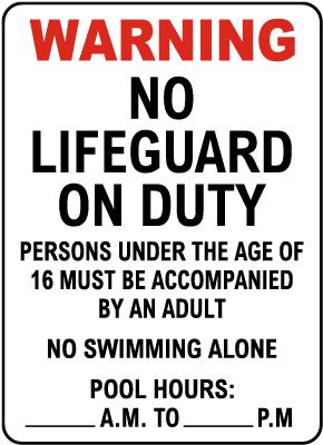 New Jersey No Lifeguard Sign