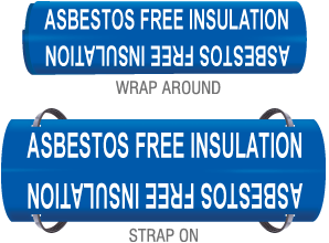 Asbestos Free Insu. Wrap Around & Strap On Pipe Marker