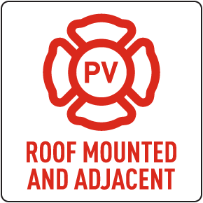 PV Roof Mounted and Adjacent Solar Panel Sign