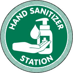 Hand Sanitizer Station Floor Sign