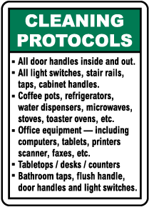 Cleaning Protocols Sign