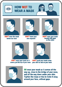 How Not To Wear A Mask Sign