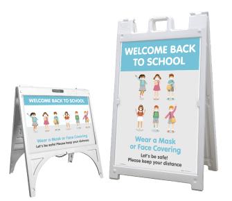 Back to School Wear a Mask Sandwich Board Sign
