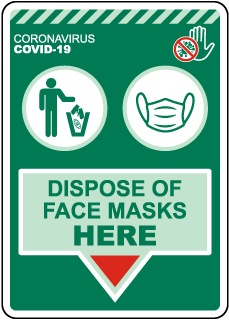Dispose of Face Masks Here Sign