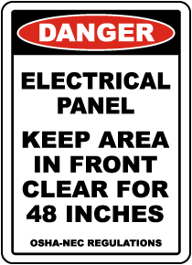 Danger Keep Area Clear For 48 Inches Floor Label